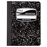 Mead Composition Notebook, College Ruled Comp Book, Writing Journal with Lined Paper...