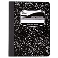 "Mead Composition Books/Notebooks, College Ruled Paper, 100 Sheets, 9-3/4"" x 7-1/2"", 1 Pack (9932)"