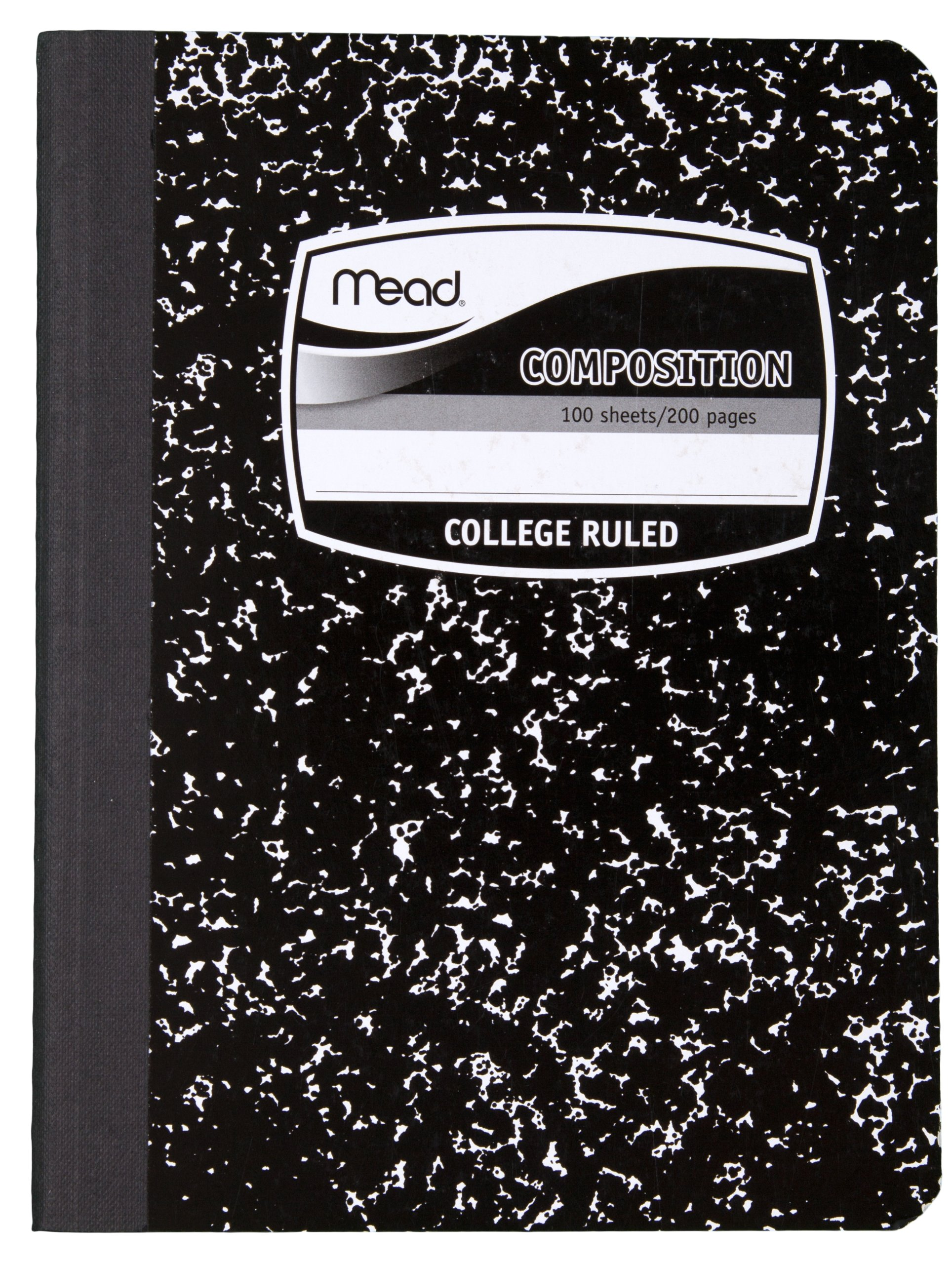 Mead Composition Books/Notebooks, College Ruled Paper, 100 Sheets, 12 Pack (72938)