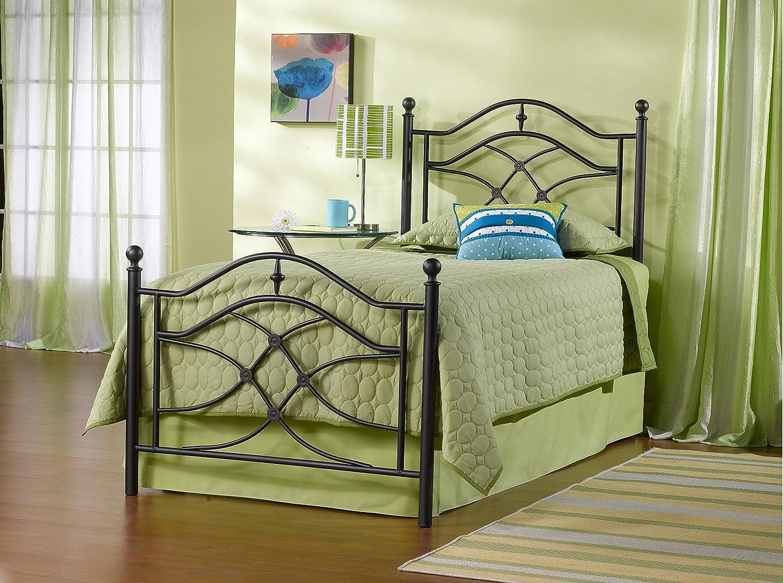 Amazon.com: Hillsdale Furniture 1601BTWR Cole Bed Set With Rails, Twin,  Black Twinkle: Kitchen U0026 Dining