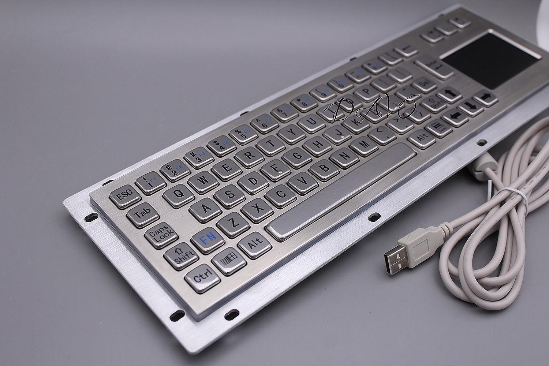 Teclado del quiosco del acero inoxidable IP65 USB con el ...
