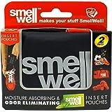 SmellWell Moisture Absorbing & Odor Eliminating Shoe Freshener, Black Shadow design (2 Pack)