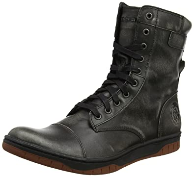 Diesel Mens Black Boots Basket Tatradium Butch Zip
