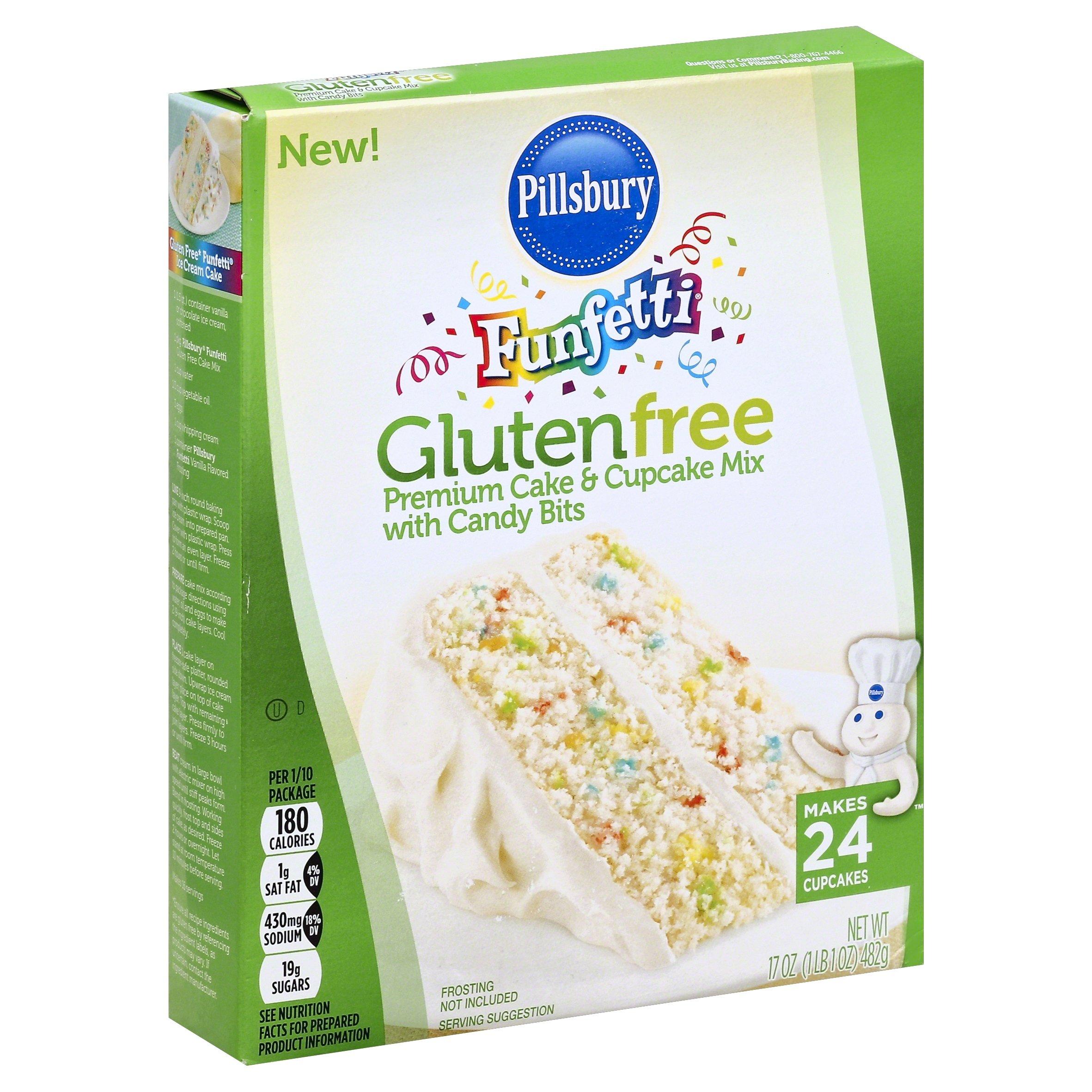 Pillsbury Funfetti Gluten Free Cake and Cupcake Mix, 17 Ounce (Pack of 12)