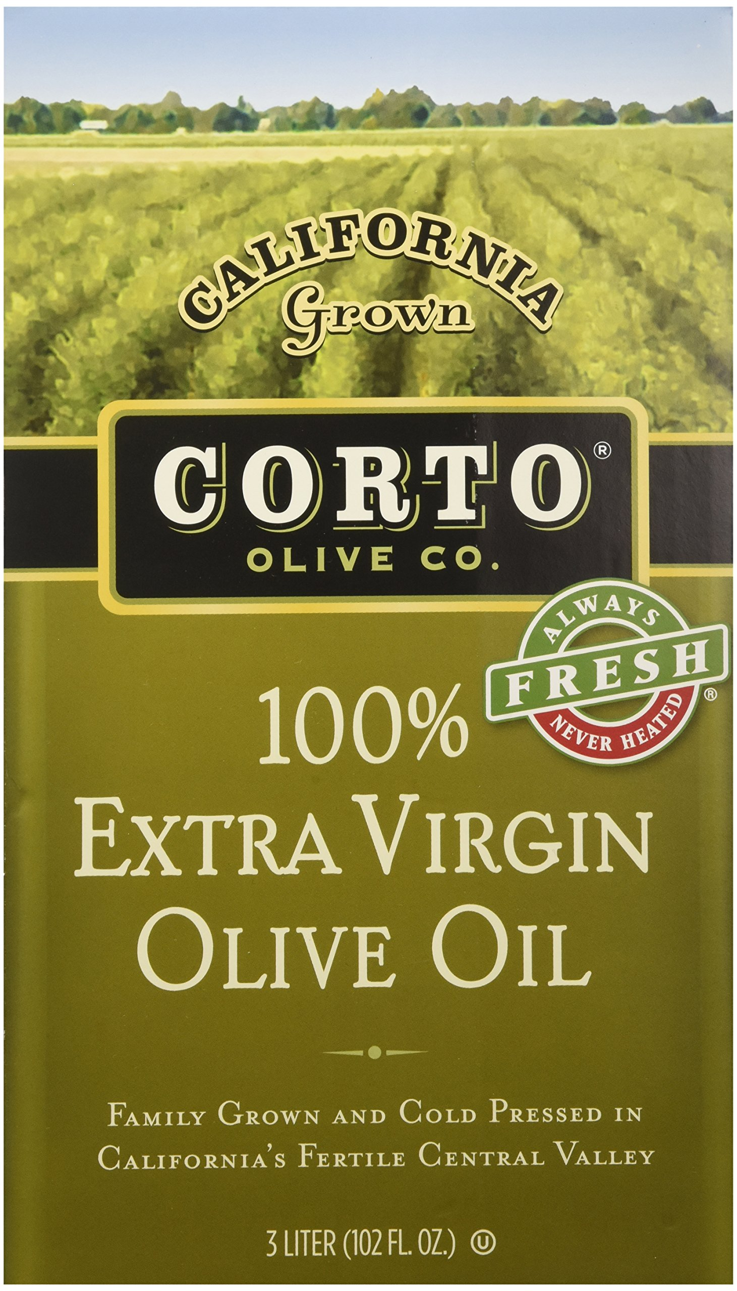 Corto Extra Virgin Olive Oil From California, (3 Liter Fresh Sealed Bag in Box) by Corto (Image #1)