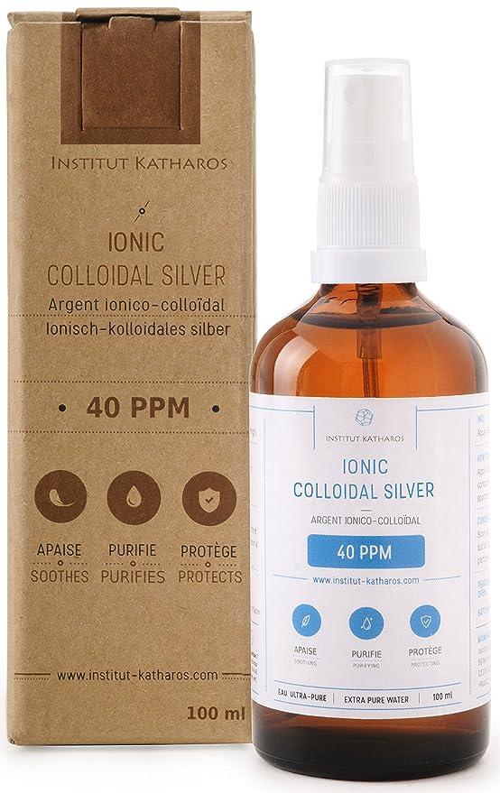 Spray Plata coloidal 100% natural 40 PPM 100mL ✅Suministrado con un tapón de dosificación muy conveniente ✅Concentración superior, partículas más ...