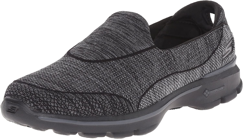 Skechers Damen GO Walk 3 Super Sock 3 Sneakers, Schwarz (BBK