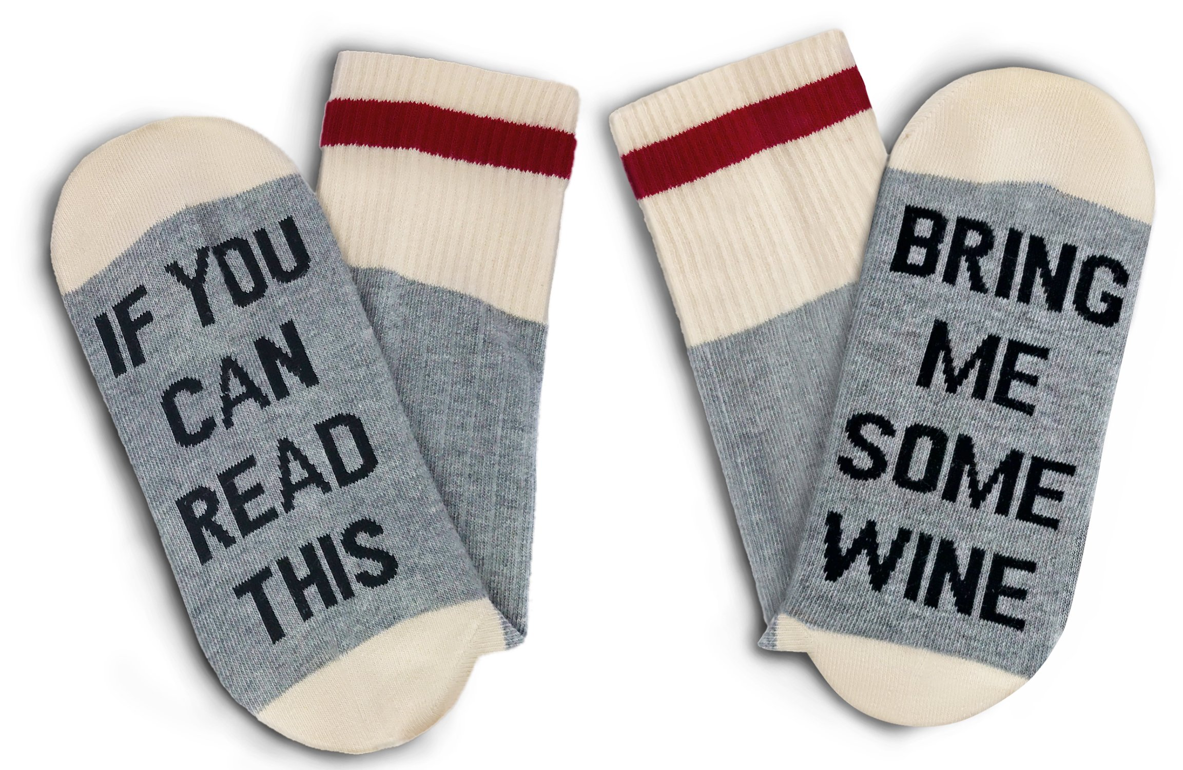 TheOnly Wine Gift Wine Socks - and Gift Box''If you can read this bring me some wine'' Perfect Christmas Gift for Wine Lovers, Birthdays, White Elephant, Mother Gift, Wife or Best Friend Wine Socks by The Only Gift Worth Giving (Image #7)