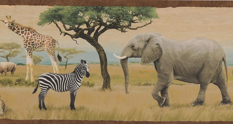 Jungle Savannah Lion Leopard Elephant Giraffe Zebra