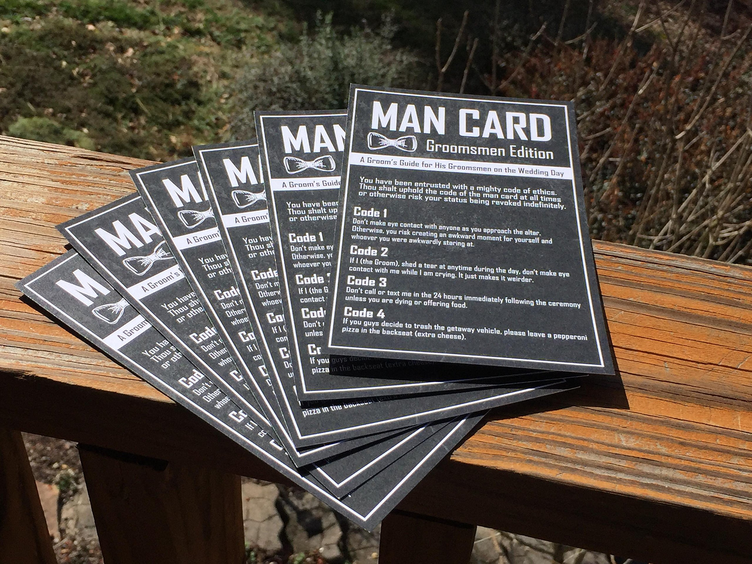Groomsmen Gifts For Wedding - The Man Card - Groomsmen Edition 6-Pack by Wannabe Genius (Image #4)