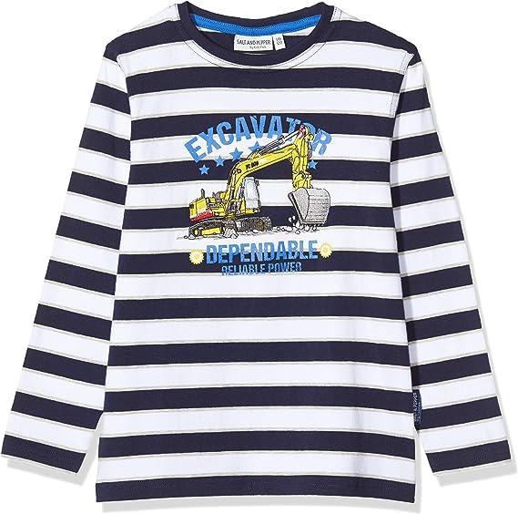 Salt /& Pepper Boys Polizeiauto Stickerei Longsleeve T-Shirt