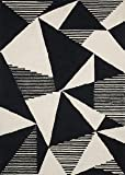 "Now House by Jonathan Adler Fractal Collection Area Rug, 3'6"" x 5'6"", Ivory and Black"