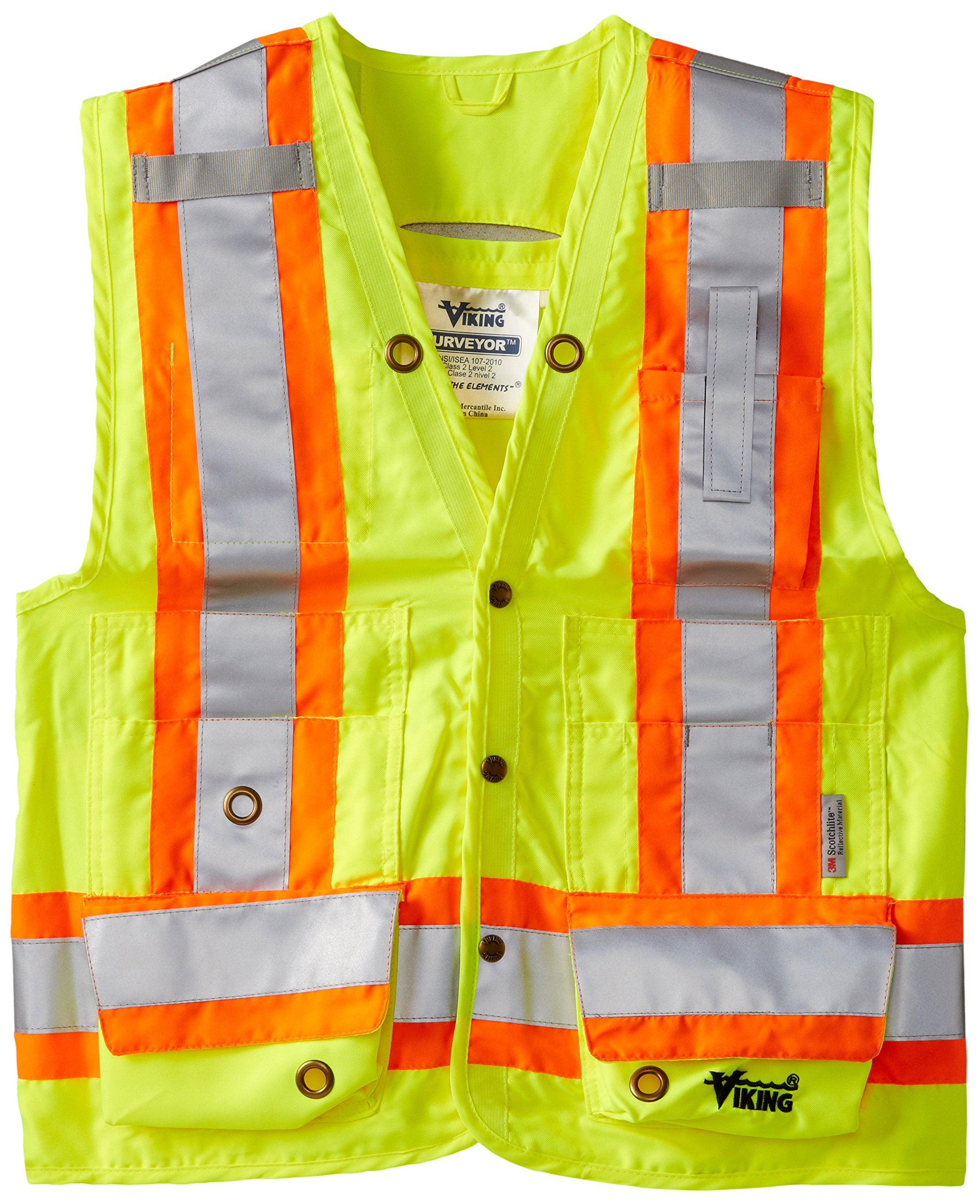 Viking Surveyor Hi-Vis Safety Vest, Green, XX-Large by Viking (Image #1)