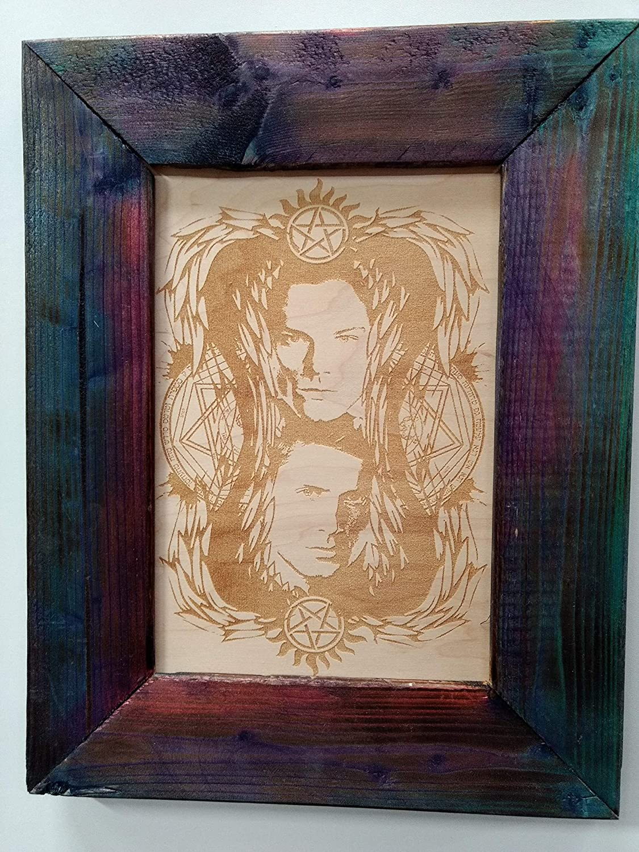 Amazon Com Supernatural Drawing Of Sam Dean Handmade