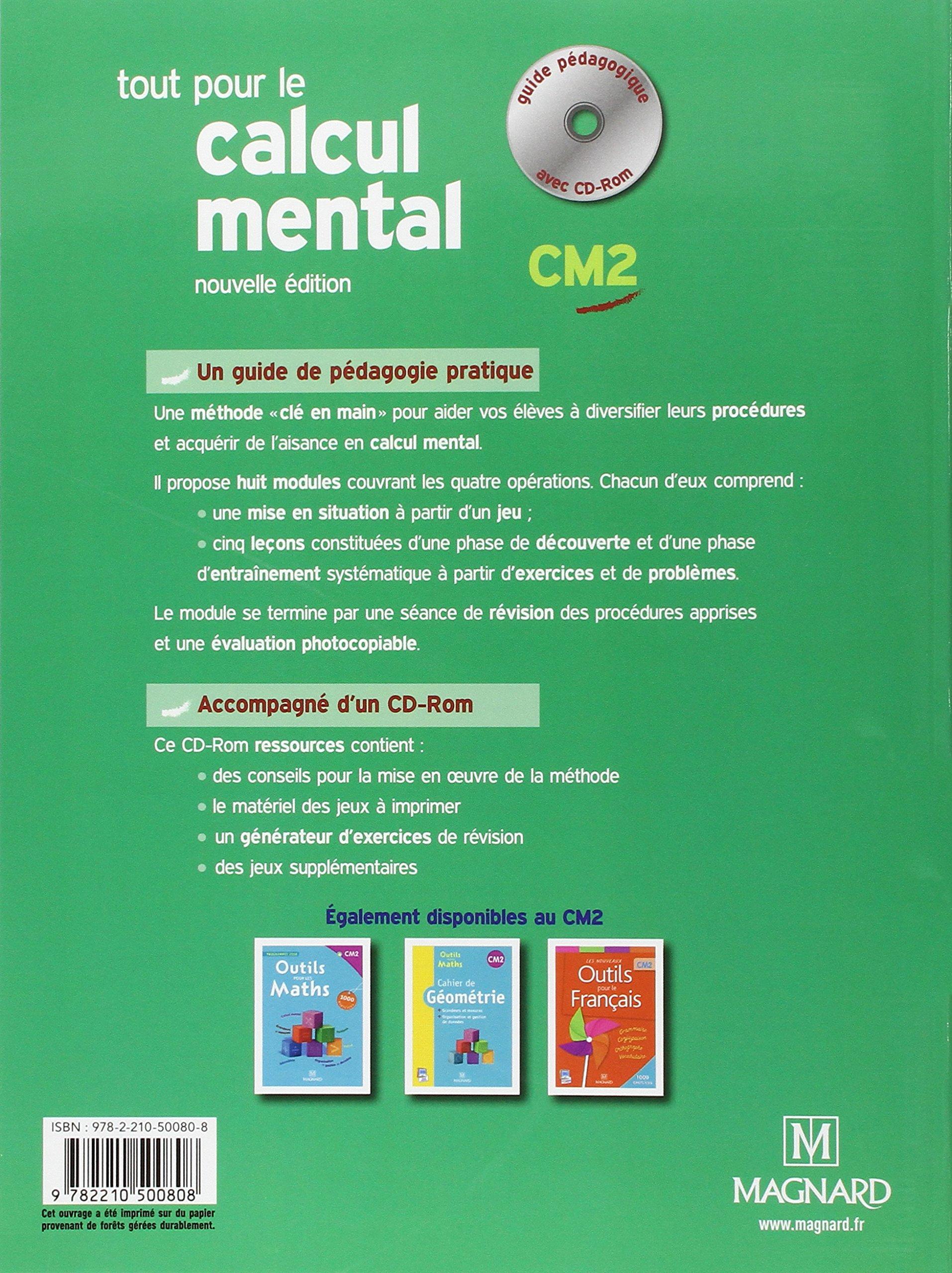 tout pour le calcul mental cm1 avec fiches photocopiables