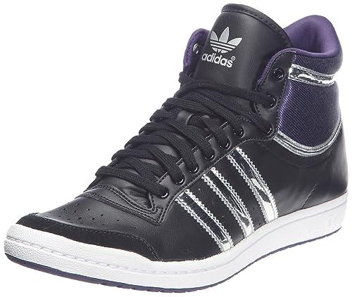 super popular bff38 a47a0 adidas Originals Top Ten Hi Slee, Zapatillas de deporte para mujer, Negro  (Noir1 Argent Métallique Aubergine), 42 EU  Amazon.es  Zapatos y  complementos