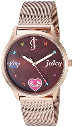e56ef6c33a Amazon.com  Juicy Couture Black Label Women s Rose Gold-Tone Mesh ...