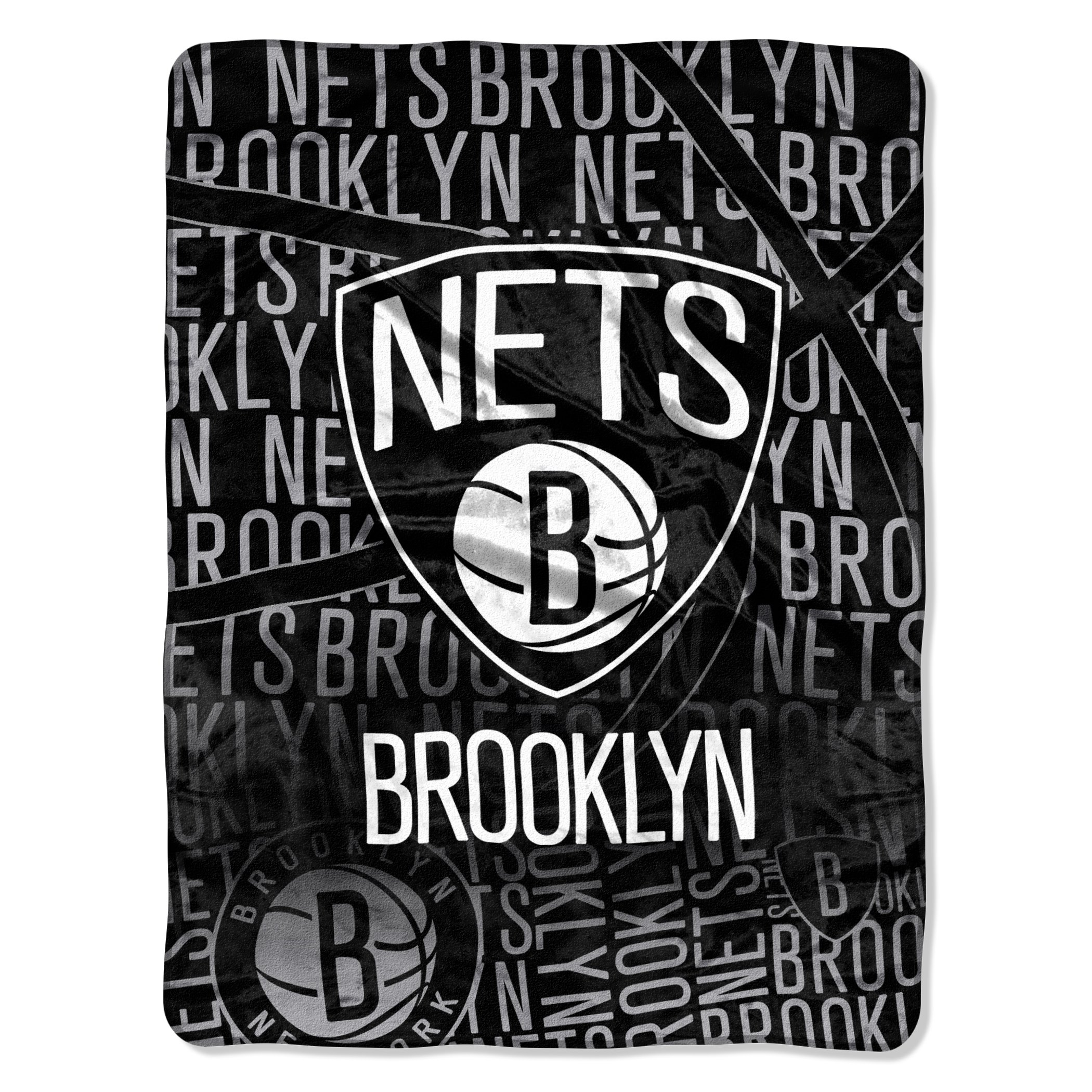 The Northwest Company Officially Licensed NBA Brooklyn Nets Redux Micro Raschel Throw Blanket, 46'' x 60''
