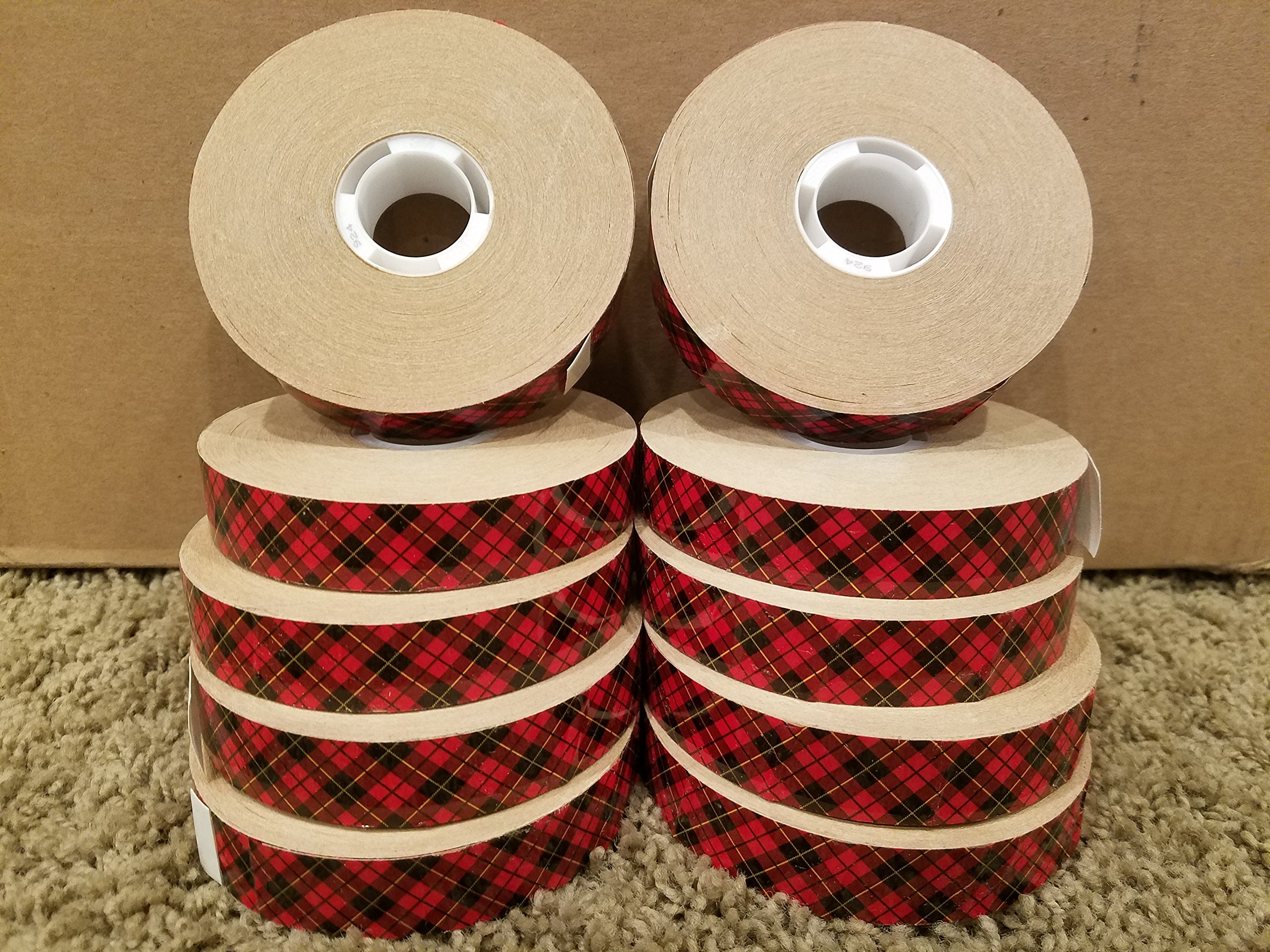 (3M 924-3/4''x60yd) (3M ID Number 70006060795) Scotch(R) ATG Adhesive Transfer Tape 924 Clear, 0.75 in x 60 yd 2.0 mil, 12 rolls per inner 4 inners per case [You are purchasing the Min order quantity which is 48 ROLLS]