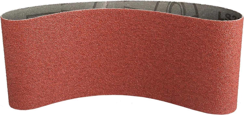 10 Stk Korn: 120 Klingspor 4142 Schleifband f/ür Handbandschleifer LS 309 XH 75X533 mm