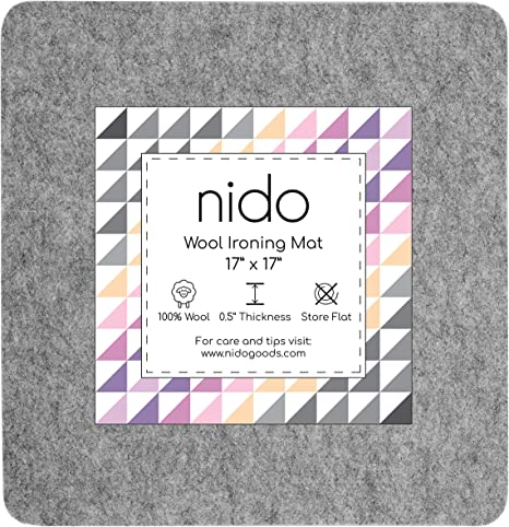 Portable for Quilting Guilds and Classes! 100/% New Zealand Wool Pressing Pad 13 x 17 Wool Ironing Mat