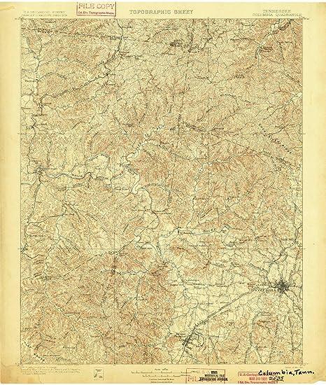 Topographic Map Of Colombia.Amazon Com Yellowmaps Colombia Tn Topo Map 1 125000 Scale 30 X 30