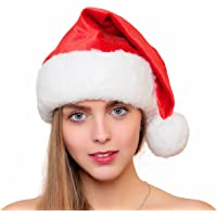 Official Plush & Faux Fur Santa Claus Hat The Best Christmas Gift