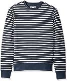Amazon Essentials Men's Crewneck Fleece Sweatshirt, Navy Stripe, Medium