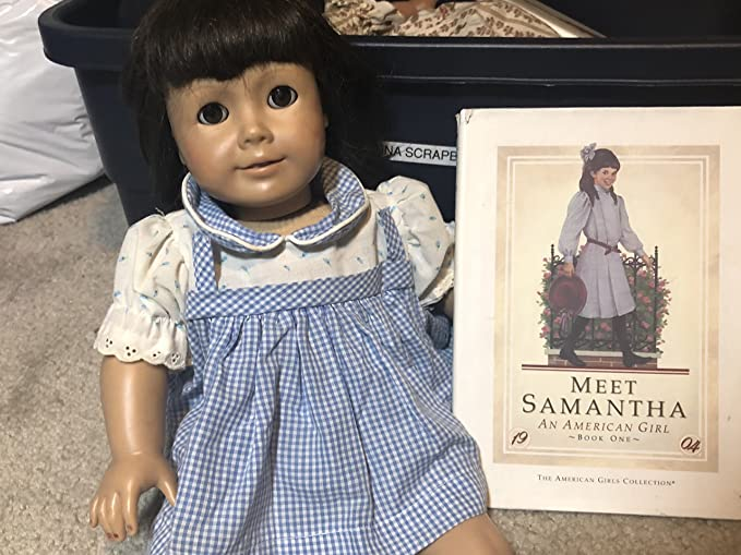 American Girl Doll Samantha Retired Meet Outfit Accessories Velvet Purse