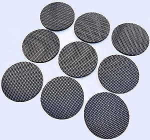 9PCS multifunctional self-adhesive round rubber furniture non-slip mat (diameter 4.5CM), furniture floor protection rubber mat is used for furniture, electrical appliances, tile floor, door wall, etc.