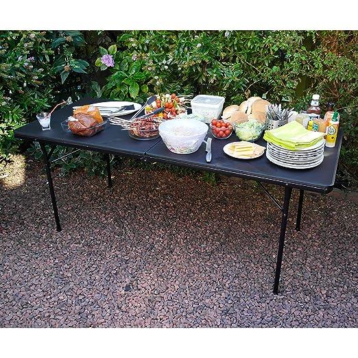 Heavy Duty 6 pies plegable caballete mesa para barbacoa Picnic ...
