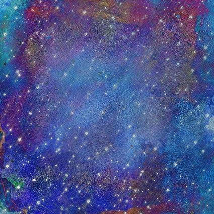 Stars Starry Night Sky Background Aurora Northern Lights Plum Violet Purple  Indigo Rainbow Horoscope Nature Photography Backdrop