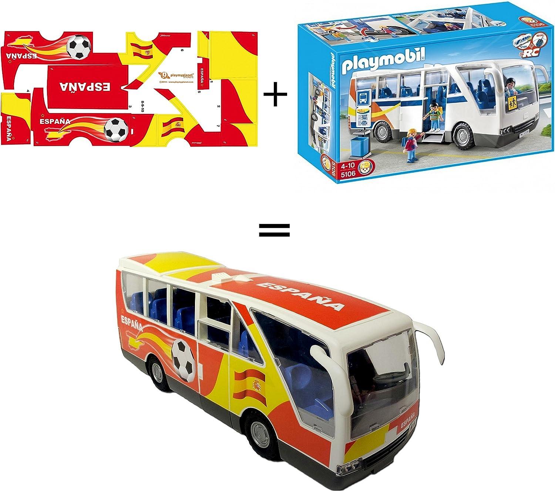 Pack Playmobil 5106 Autobus Escolar + Stickers Adhesivos de ...