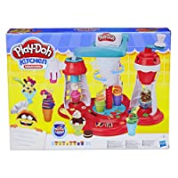 Play Doh Kitchen Creations Ultimate Swirl Ice Cream Maker Play Food Set with 8 Non Toxic Colours