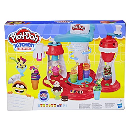 Play-Doh Kitchen Creations Ultimate Swirl Ice Cream Maker Play Food Set with 8 Non Toxic Colours-Best-Popular-Product