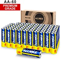 Deals on 60-Pack ALLMAX All-Powerful Alkaline AA Batteries