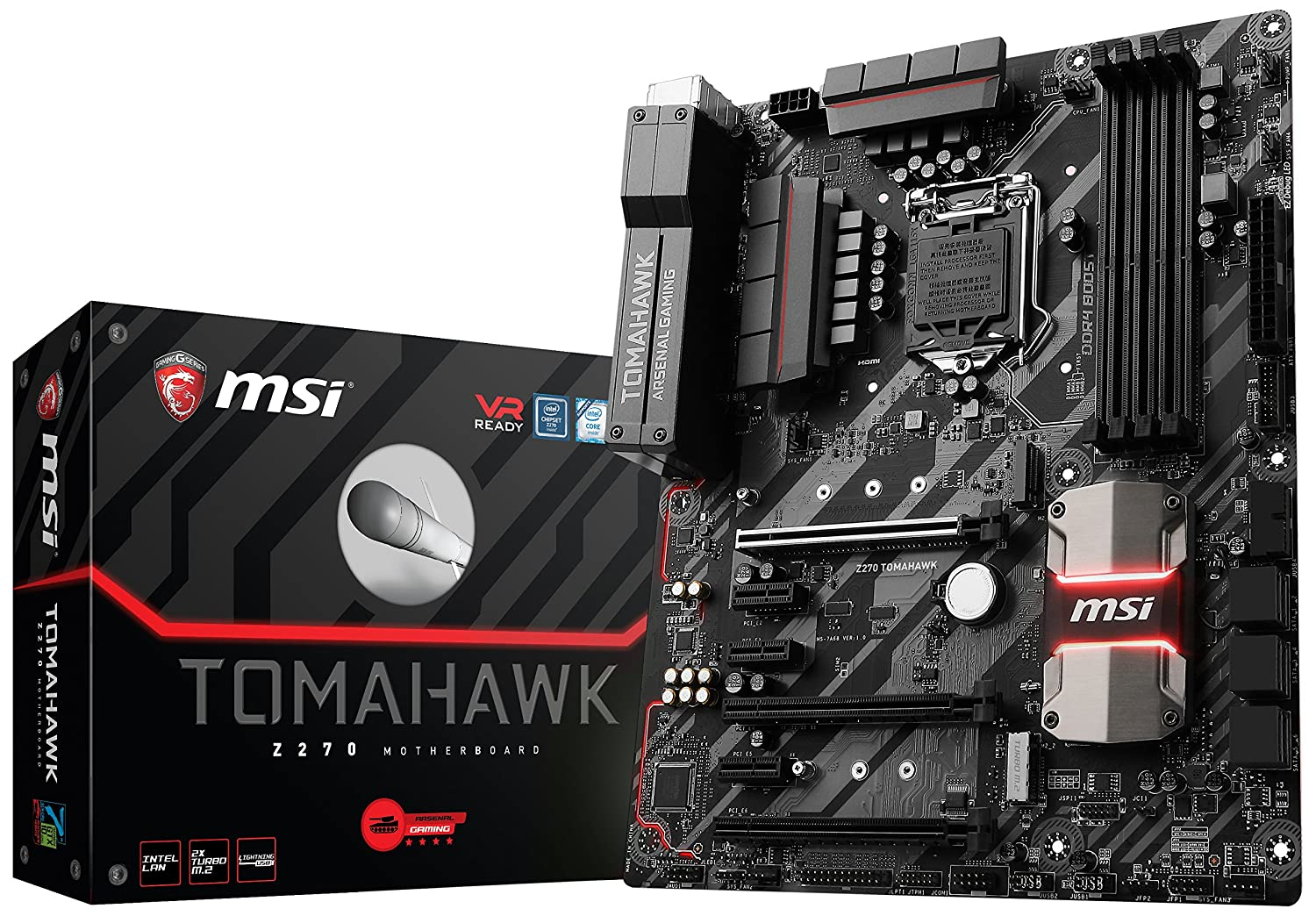 Msi Arsenal Gaming Intel Z270 Ddr4 Hdmi Usb 3 Crossfire Labeled Puter Parts Diagram Also Atx Motherboard With Labels Tomahawk Computers Accessories
