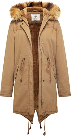 ainr Womens Thick Warm Sherpa Lined Coat Open Front Long Loose Jacket Coat
