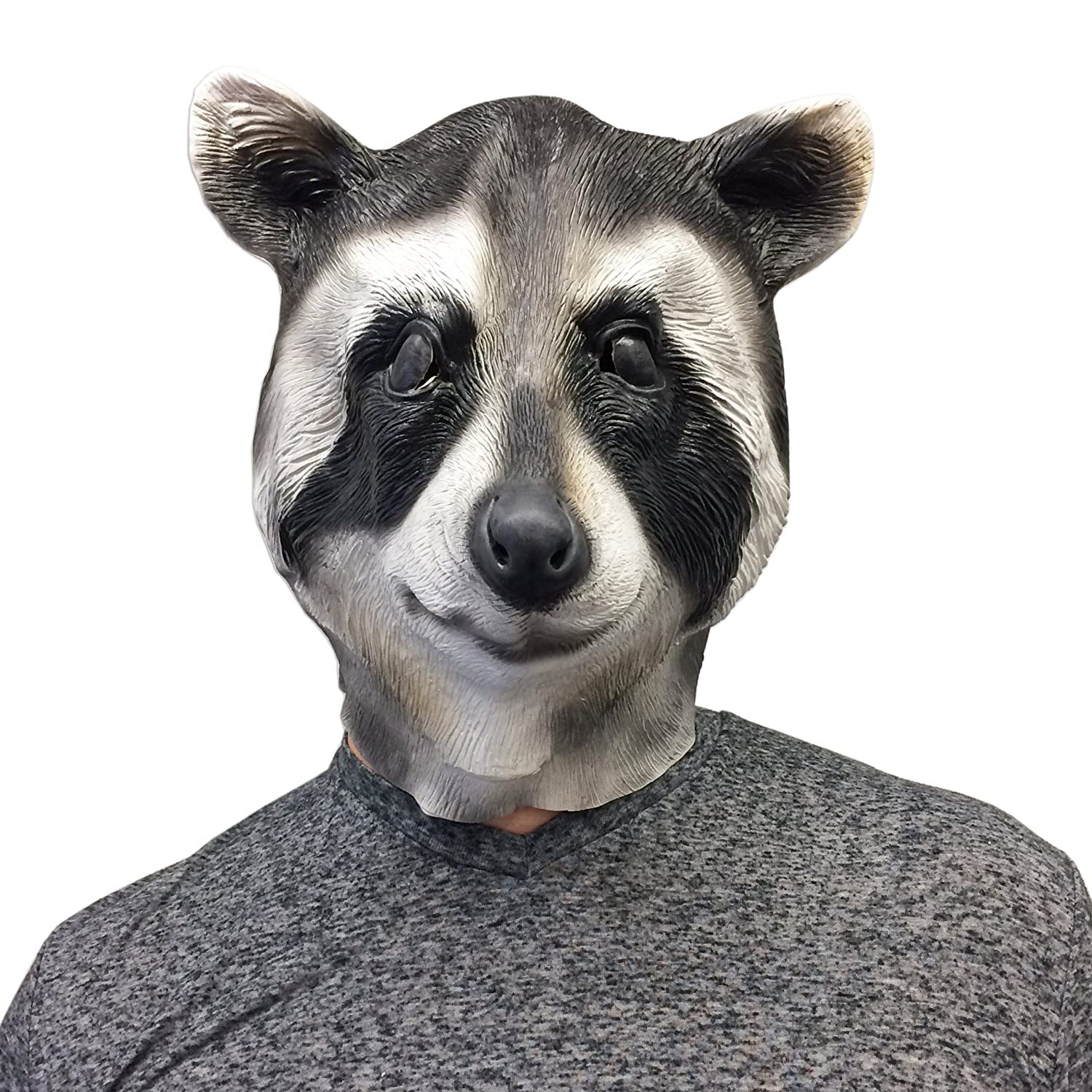 Cool Raccoon Halloween Face Mask - Off the Wall Toys