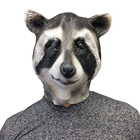 Off the Wall Toys Cool Raccoon Halloween Face Mask