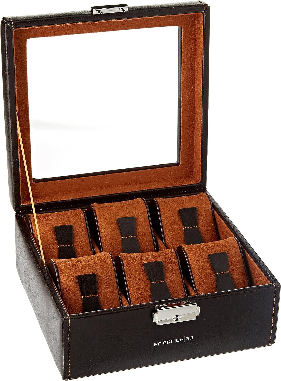 Uhrenkoffer Feinsynthetik Carbon 12 Uhren schwarz Friedrich23