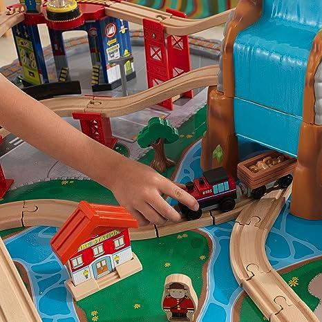 KidKraft Waterfall Junction Train Table and Set, Train Sets - Amazon ...