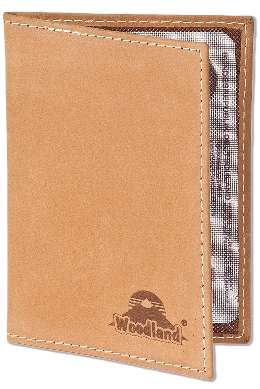 Woodland® - Lederetui für den Alten Personalausweis und den KFZ-Schein aus weichem naturbelassenem Büffelleder in Cognac, Beige LM-International Europa GmbH 6282904