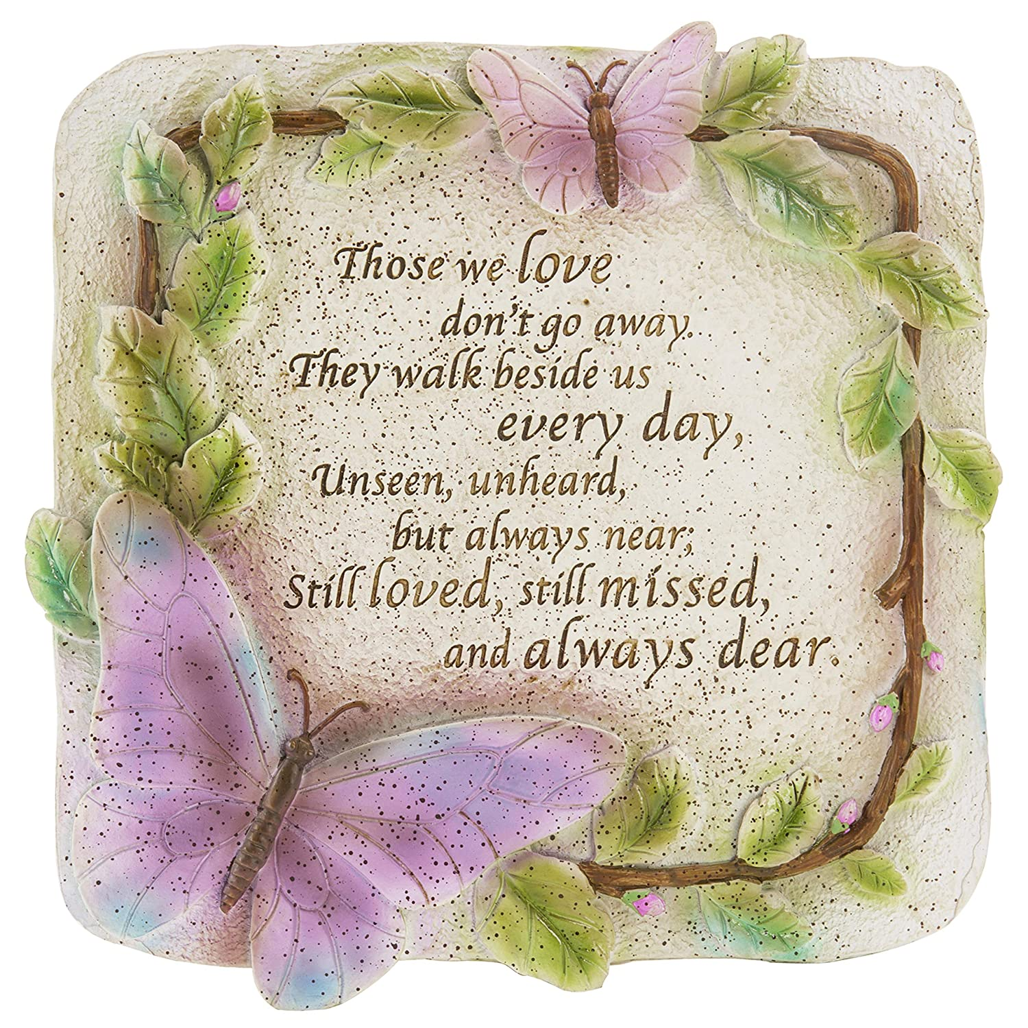 MyGift Memorial Verse Resin Garden Stepping Stone/Wall Hanging Art Decor