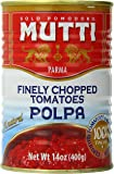 Mutti Finely Chopped Tomatoes, Polpa, 14 ounce (Pack of 12)