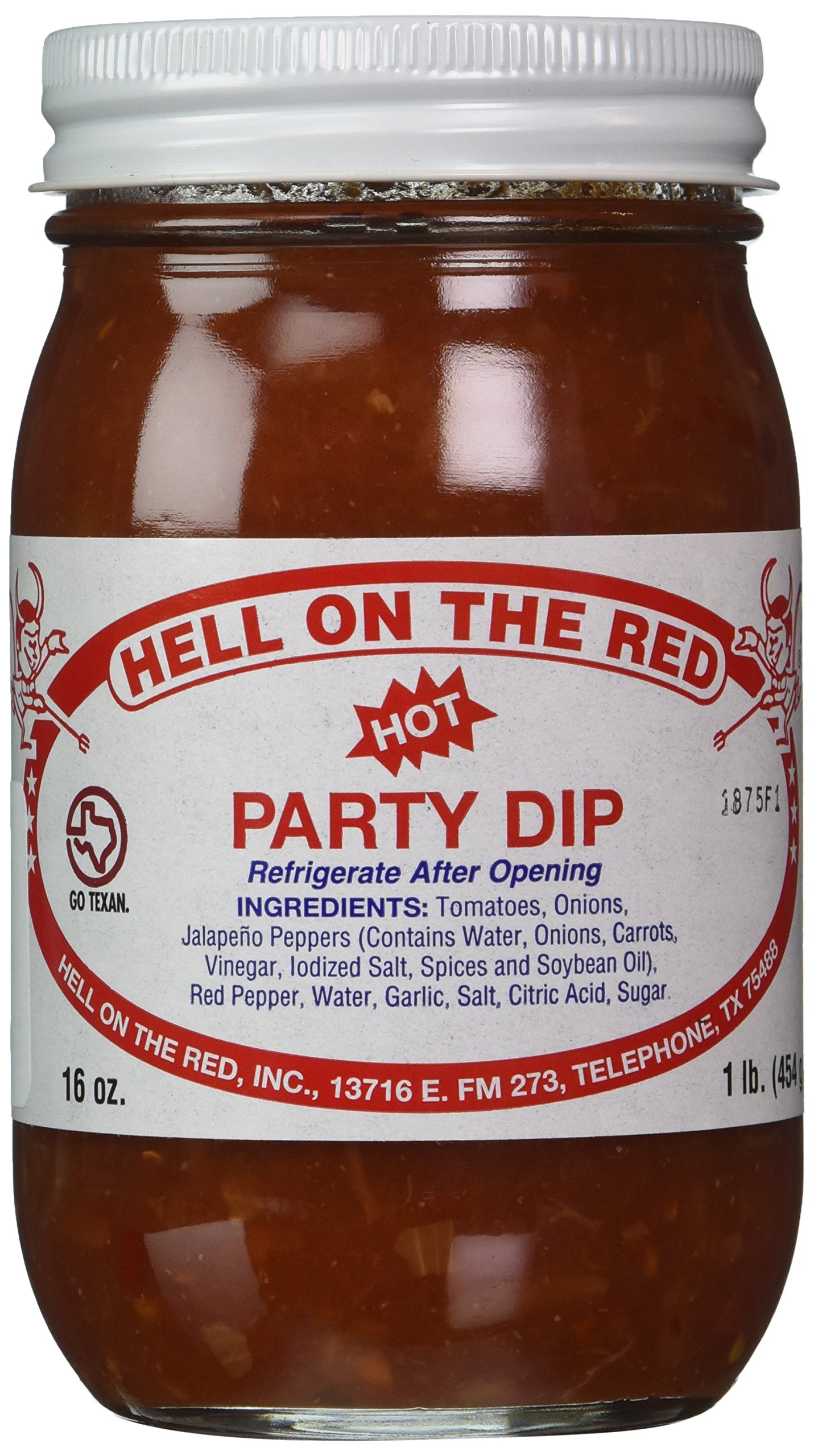 Hell On The Red, Authentic Texas Hot Party Dip, 16 Ounces (Pack of 2) by Hell on the Red (Image #1)