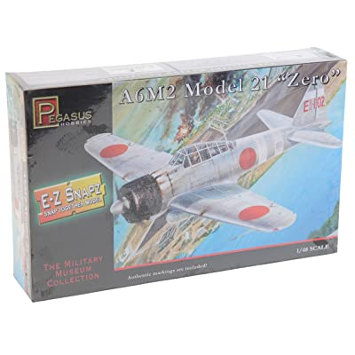 A6M2 Model 21 Zero Fighter (Snap Kit) 1-48 Pegasus: Toys & Games