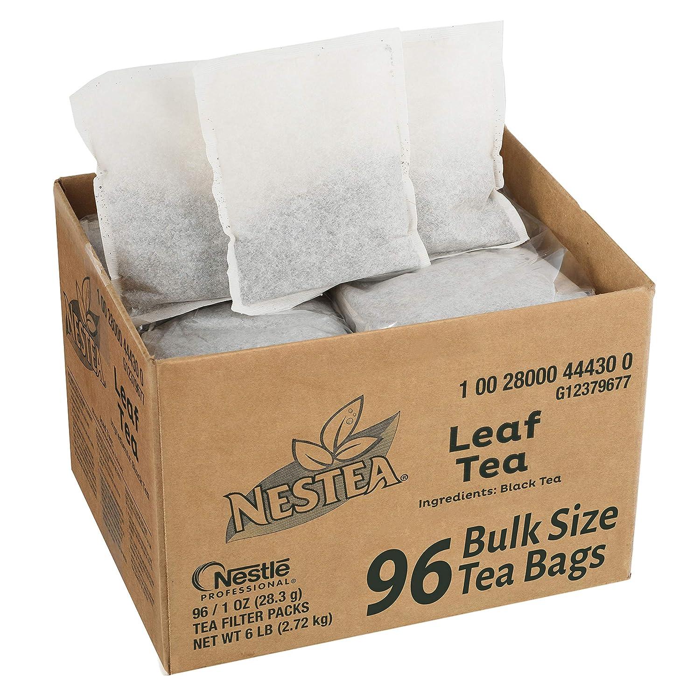 Nestea Black Tea Bags, Bulk Foodservice Tea, Premium 100% Leaf Tea, 1-Ounce Packets (Pack of 96)