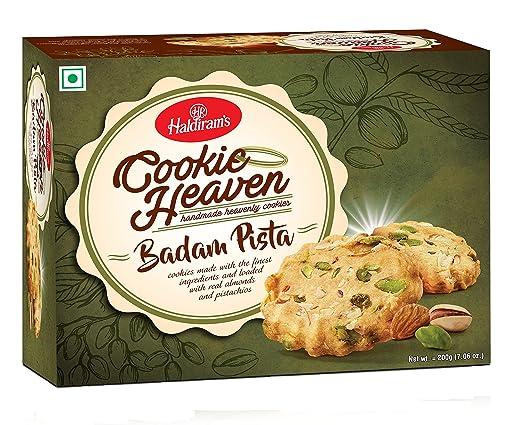 Amazon.com : Haldirams, Cookie Heaven Badam Pista, 200 Grams(gm) : Grocery & Gourmet Food