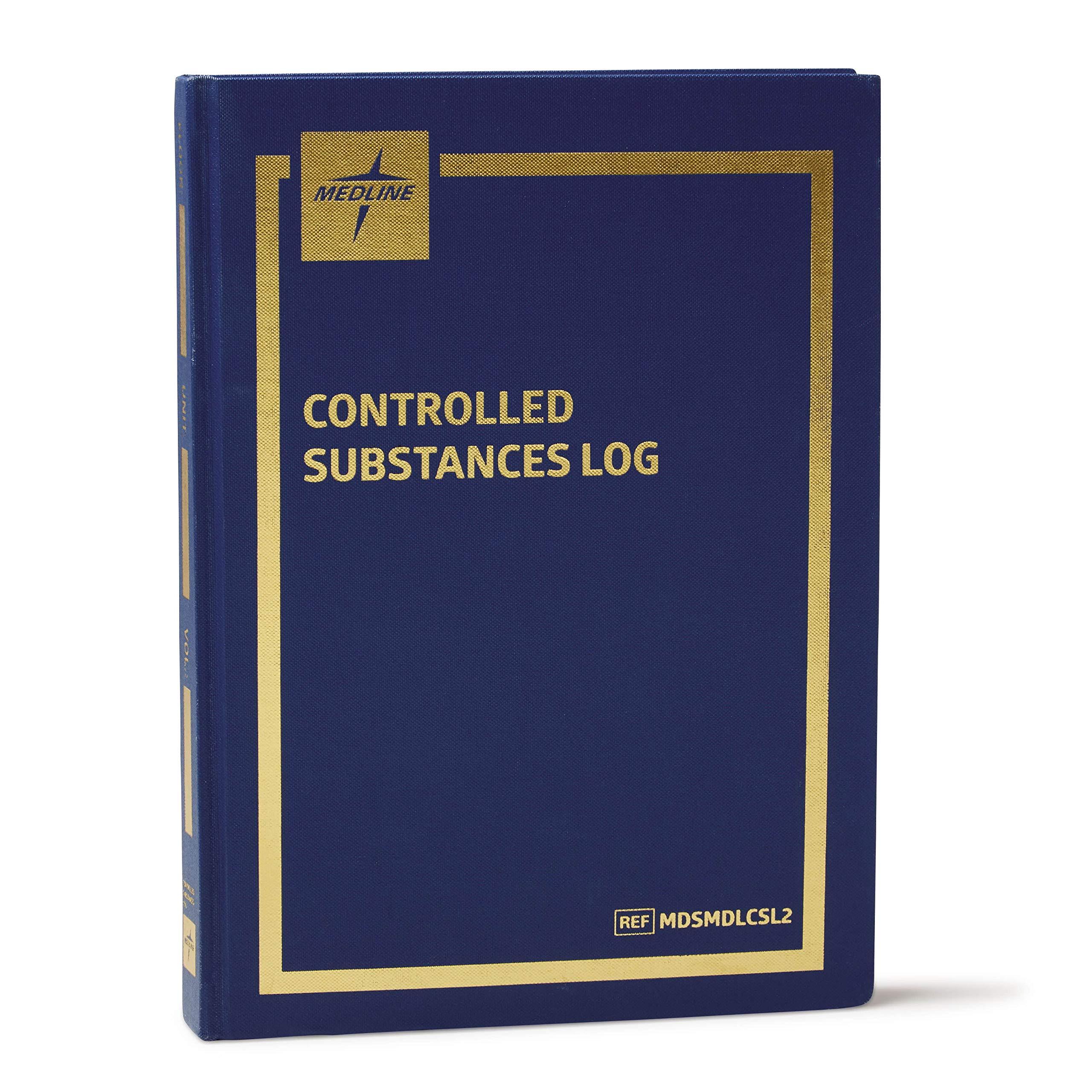Medline MDSMDLCSL Hard Cover Controlled Substance Drug Log Book, 323 Pages by Medline